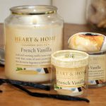 Heart Candles Heart and Home French Vanilla
