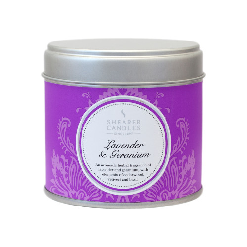 Shearer Candles Lavender & Geranium Tin