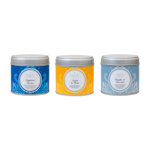 Shearer Candles Selection - Cotton, Lavender, & Vanilla Coconut