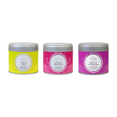 Shearer Candles Selection Lime Watermelon Rhubarb Raspberry