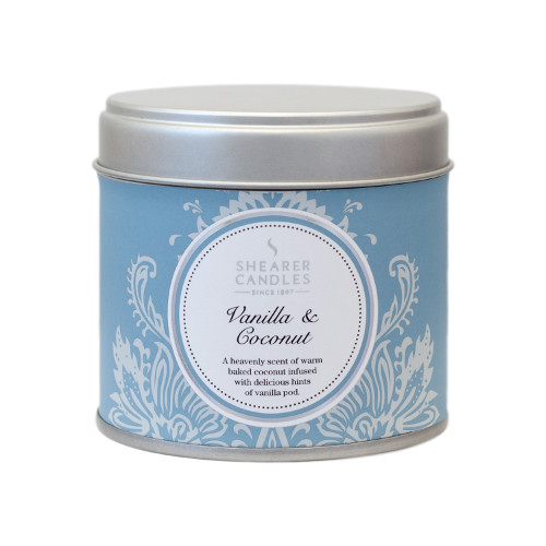 Shearer Candles Vanilla & Coconut Tin