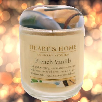 Heart Candles Heart and Home Candle Jar French Vanilla