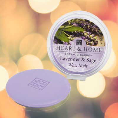 Heart Candles Heart and Home Wax Melt Lavender Sage
