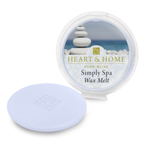 Heart and Home simply spa wax melt
